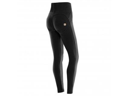 Freddy kalhoty v černé barvě, vysoký pas, zip, skinny střih