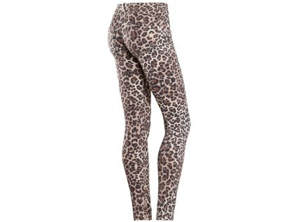 Freddy kalhoty v leopardím vzoru, nízký pas