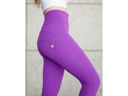 Freddy kalhoty světle fialové barvě, D.I.W.O. PRO materiál, vysoký pas, skinny střih