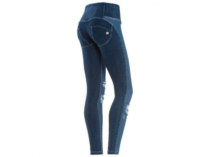 Freddy kalhoty v džínové tmavé, vysoký pas, potrahný styl