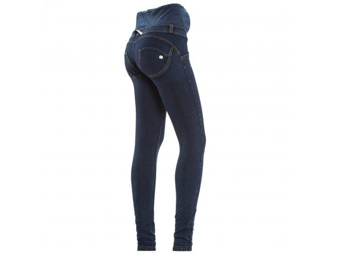 Těhotenské freddy kalhoty v tmavě modré džínové