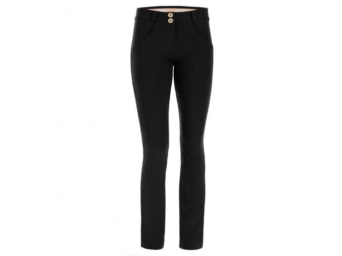 Freddy kalhoty v černé barvě, rovný střih