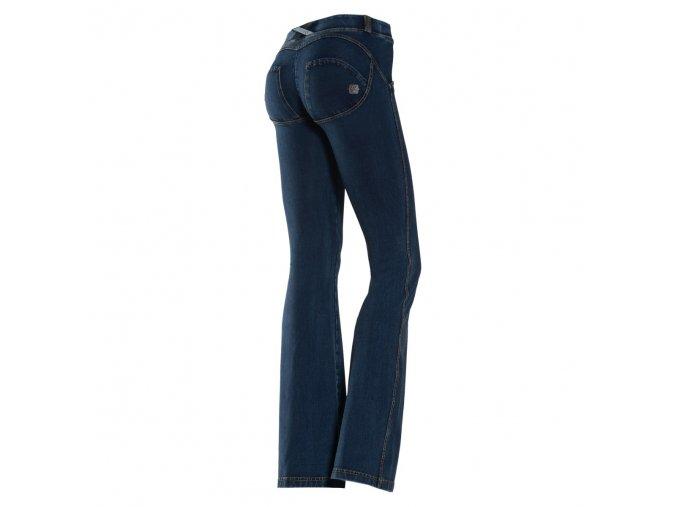 Freddy kalhoty v tmavě džínové, střih flare (do zvonu)