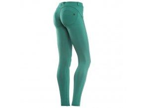 Freddy kalhoty D.I.W.O.® látka v zelené barvě, skinny střih, tmavý znáček
