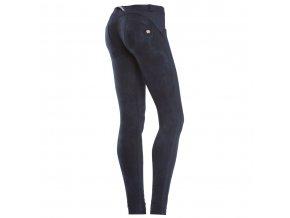 Freddy kalhoty v modrém batikovaném vzoru, skinny střih
