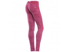 Freddy kalhoty v růžovém batikovaném vzoru, skinny střih
