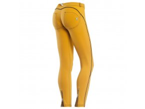 Freddy kalhoty v D.I.W.O. materiálu, žlutá barva, zip, 7/8 střih