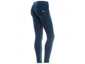 Freddy kalhoty v džínově tmavě modré, kytičky