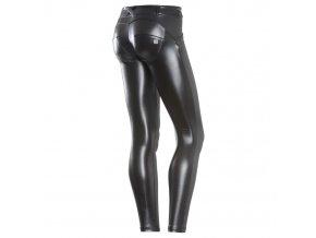 Freddy kalhoty FAUX kožené v černé barvě, skinny