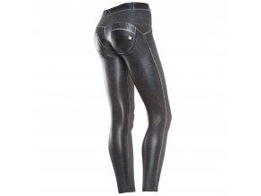 Freddy kalhoty v koženém stylu, černá barva