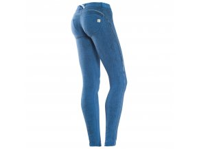 Freddy kalhoty v modré vzorované barvě, pruh