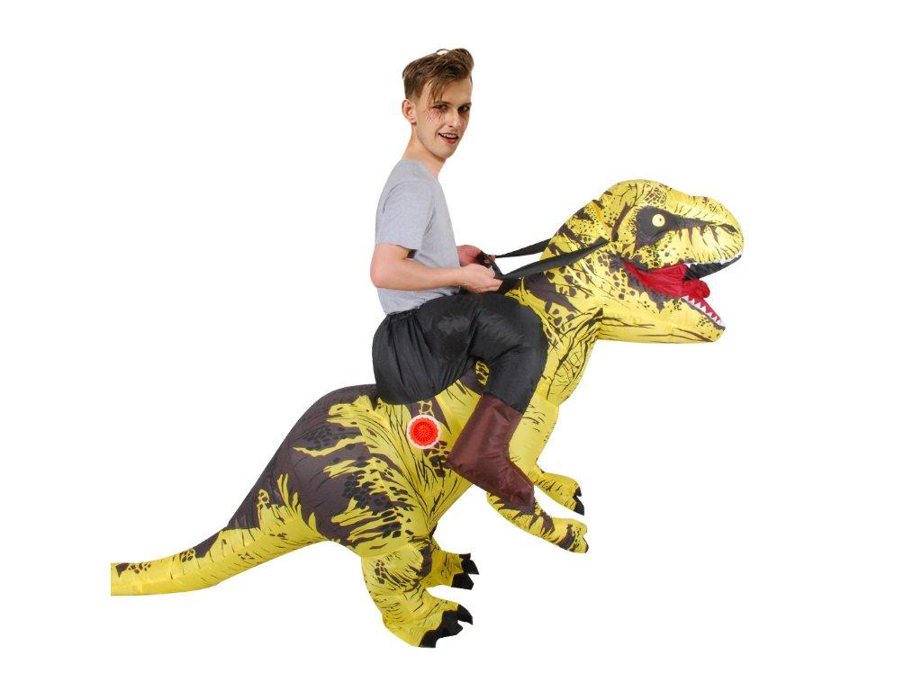 Nafukovací kostým dinosaura - žlutý