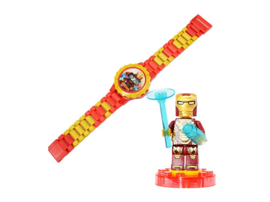 Figurka k Lego Iron Man + hodinky