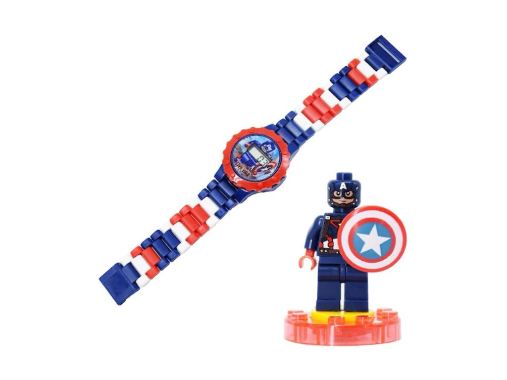 Figurka K Lego Kapitán Amerika + hodinky