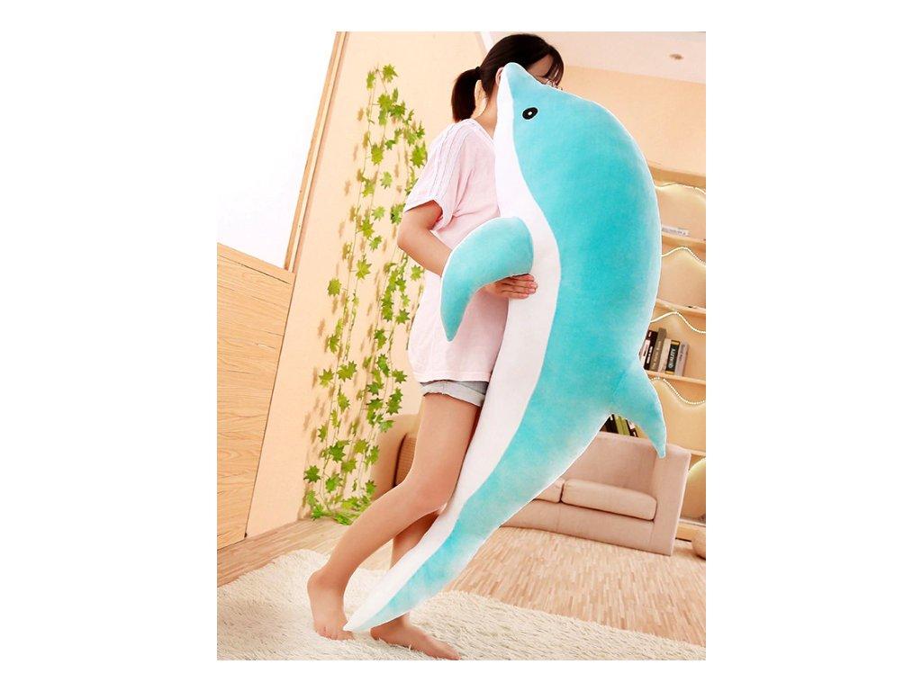Plyšový Delfín (modrý) - různé velikosti