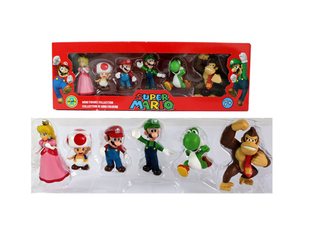 Figurky Super Mario 6ks