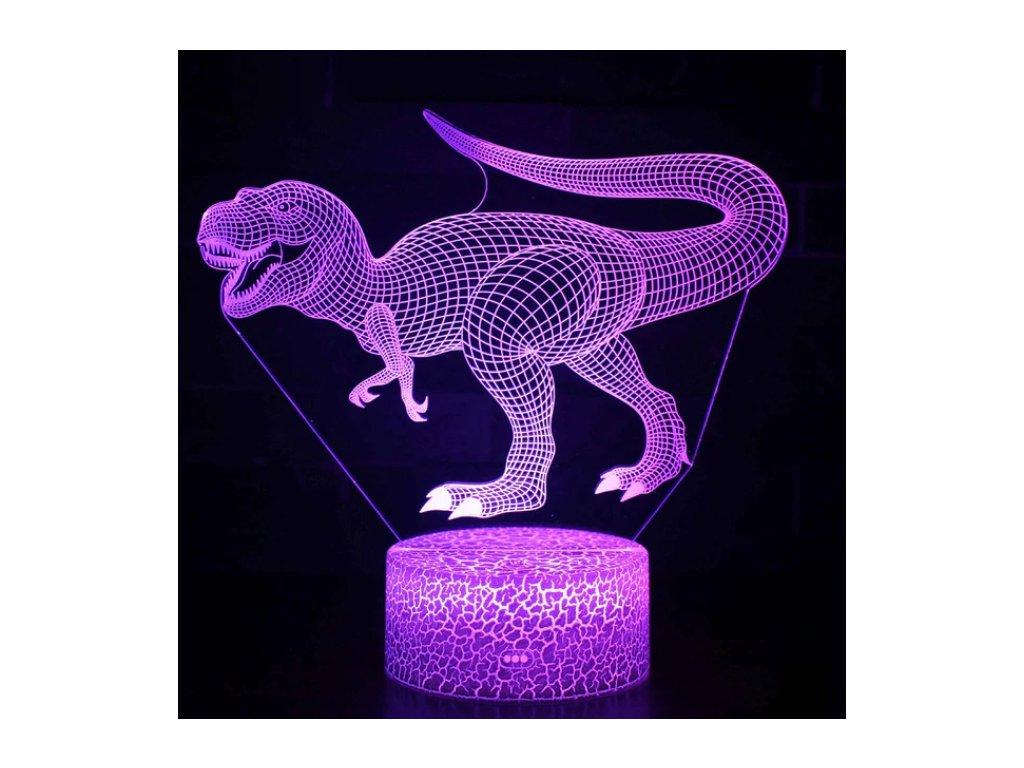 Lampa s 3D iluzí - Dinosaurus