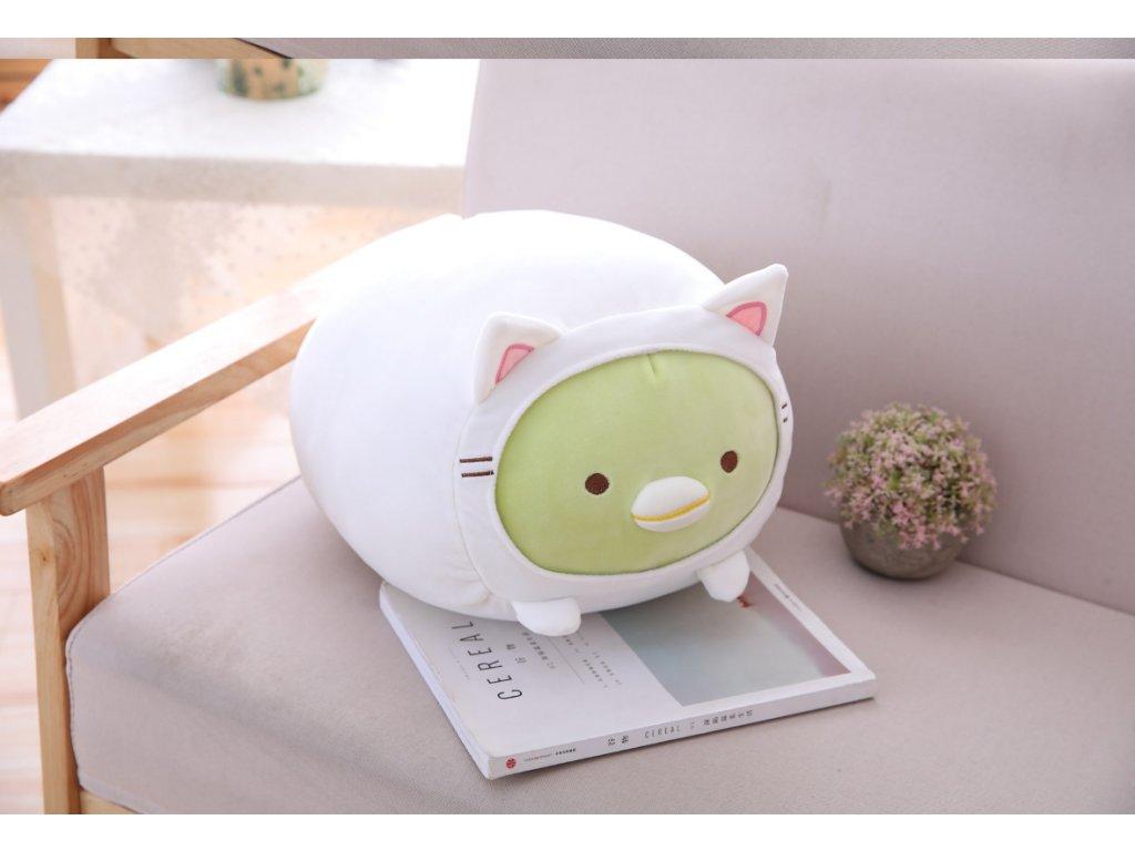 Plyšové prasátko - dekorační polštářek, zelený