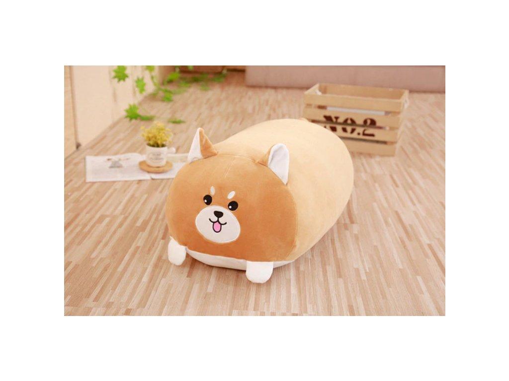 Plyšový pes - dekorační polštářek