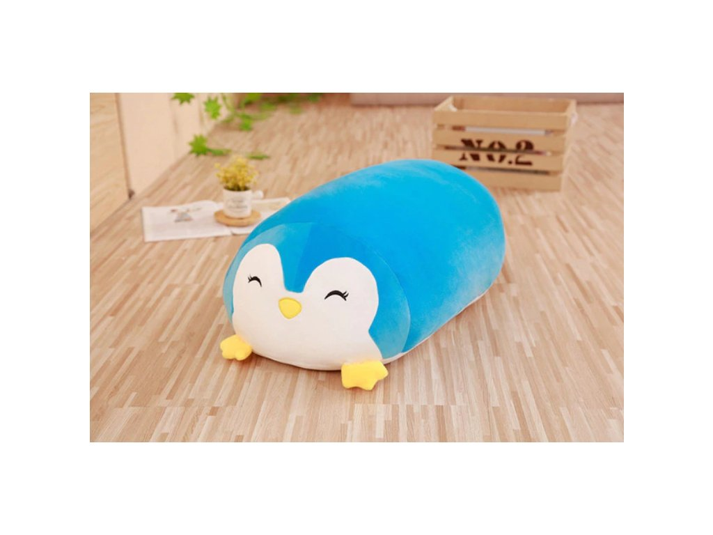Plyšový tučnák- dekorační polštářek