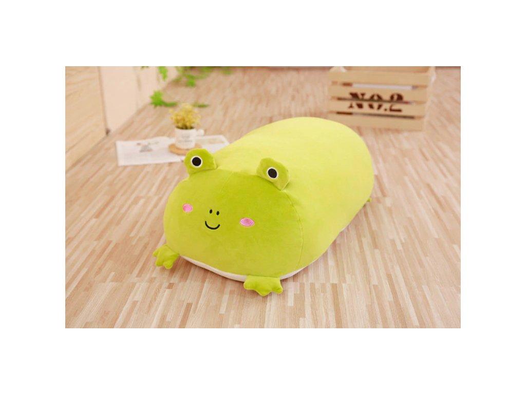 Plyšový žába - dekorační polštářek