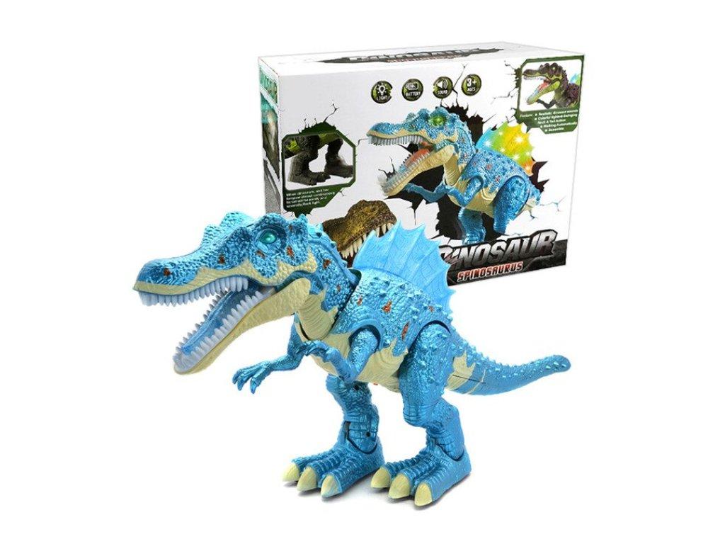 Chodící dinosaurus se světlem a zvukem