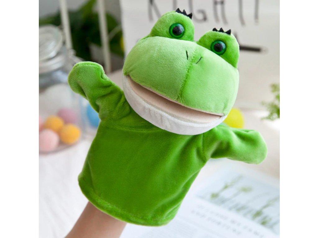 Plyšový maňásek na ruku - Žába