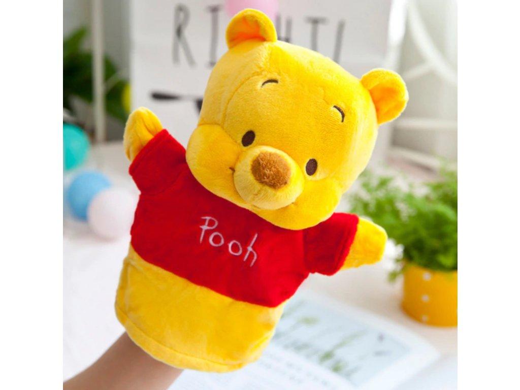 Plyšový maňásek na ruku - Medvídek Pú