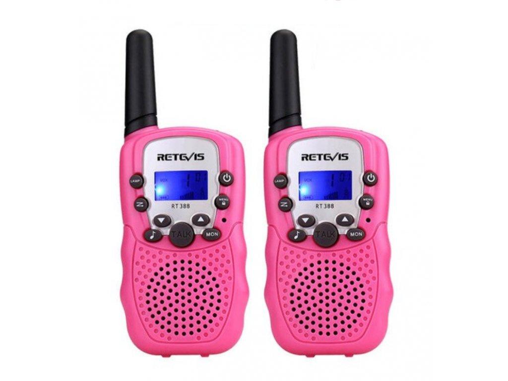 Vysílačka pro děti - růžová