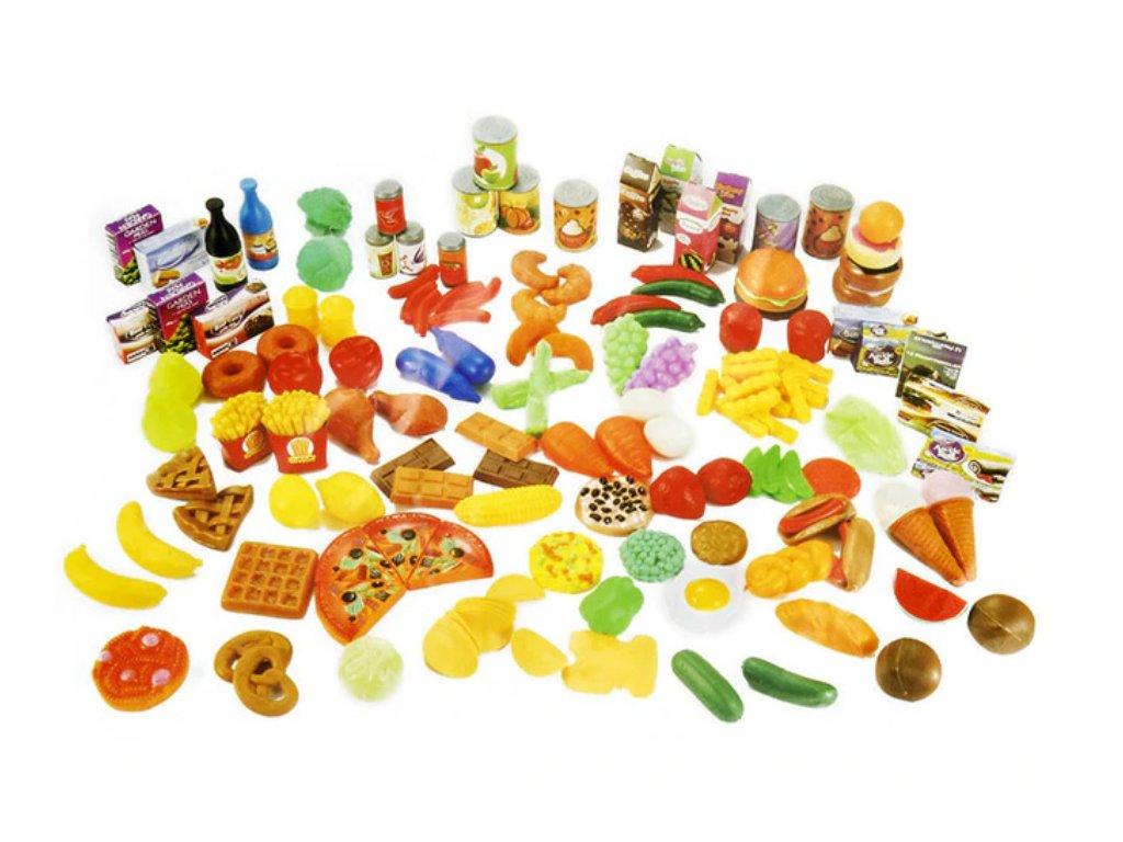 Sada plastového jídla 140ks