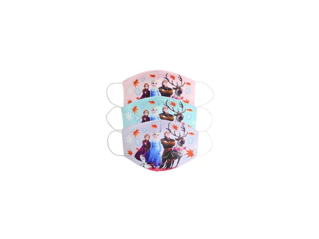 Dětská rouška - Ledové království - 3 barvy