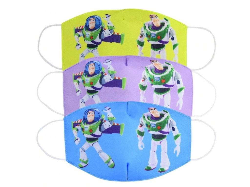 Dětská rouška - Toy Story: Příběh hraček - 3 barvy