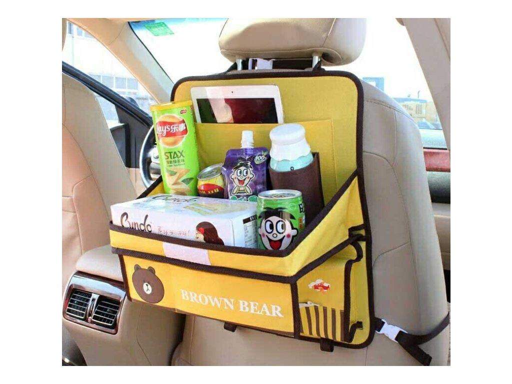 Dětský organizér na sedačku do auta - různé varianty