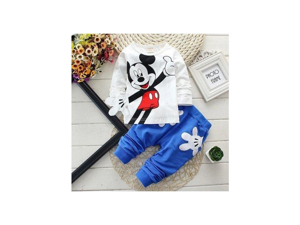 Dětská tepláková souprava - Mickey Mouse - modrá