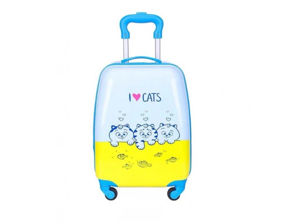 Dětský kufřík na kolečkách - Kočičky