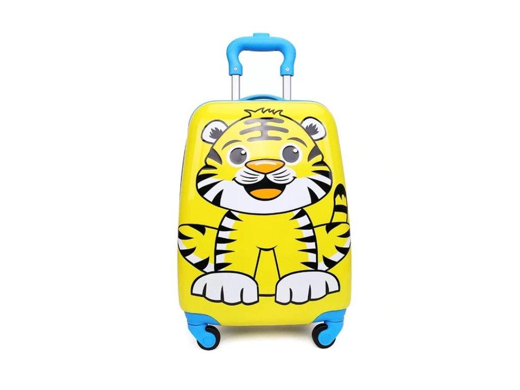 Dětský kufřík na kolečkách - Tygr