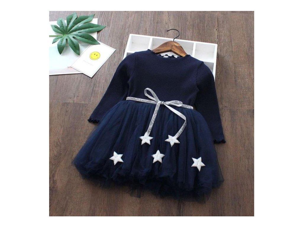 Dětské šaty - Hvězdy - 2 barvy