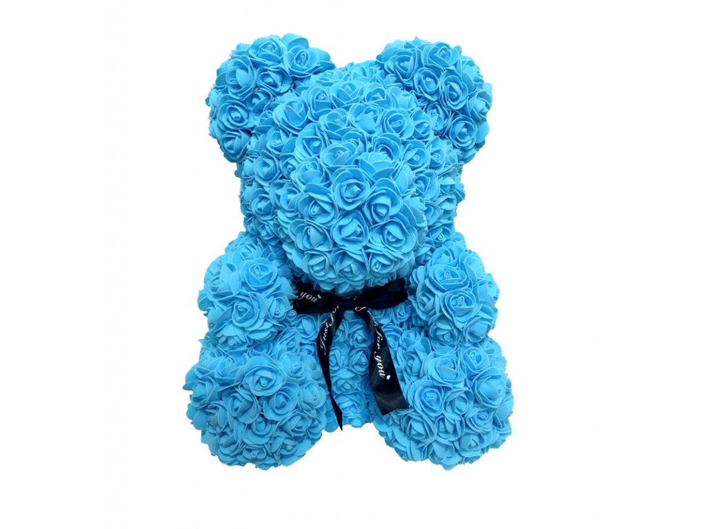 Dárkový medvídek plný růží - 2 velikosti