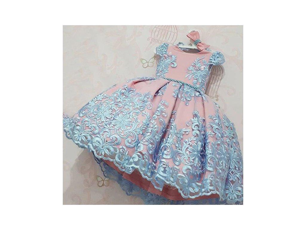 Dětské šaty - Růžovovo-modré