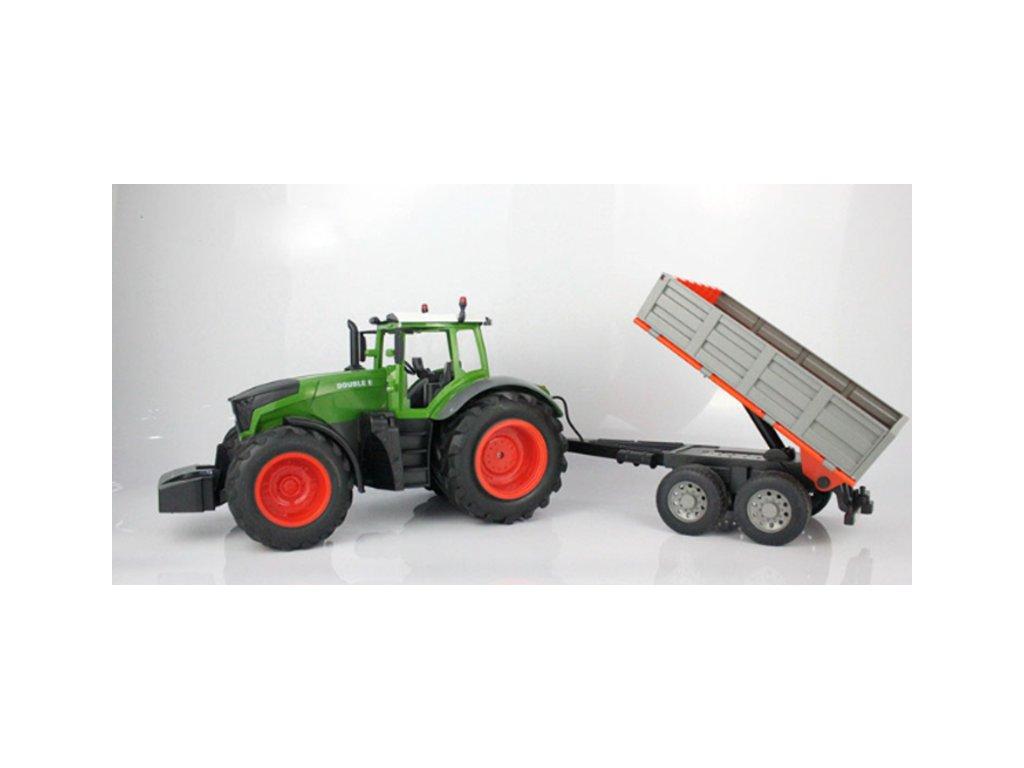 RC traktor s vozíkem