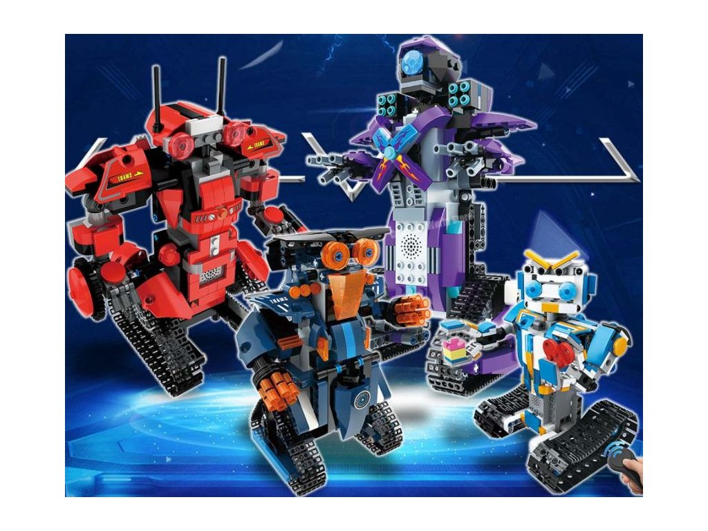 RC robot - stavebnice - 4 barvy