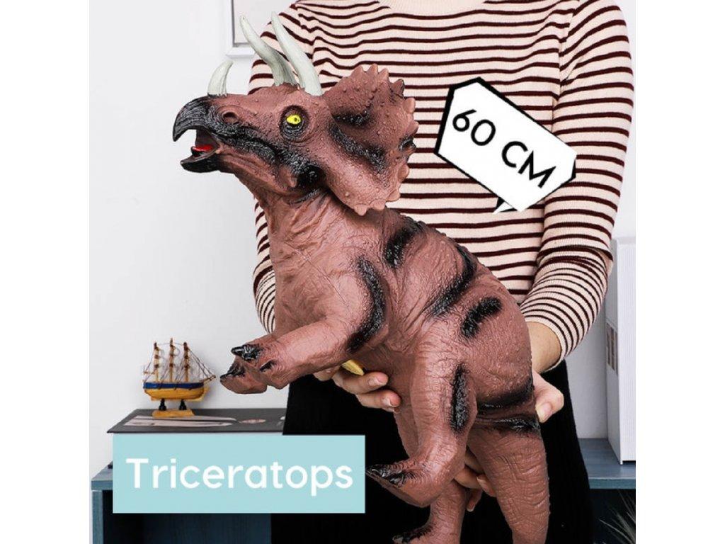 Dinosaurus - Triceratops 60 cm