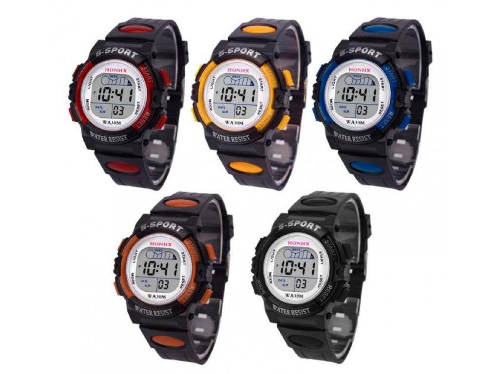 Dětské sportovní hodinky - různé varianty
