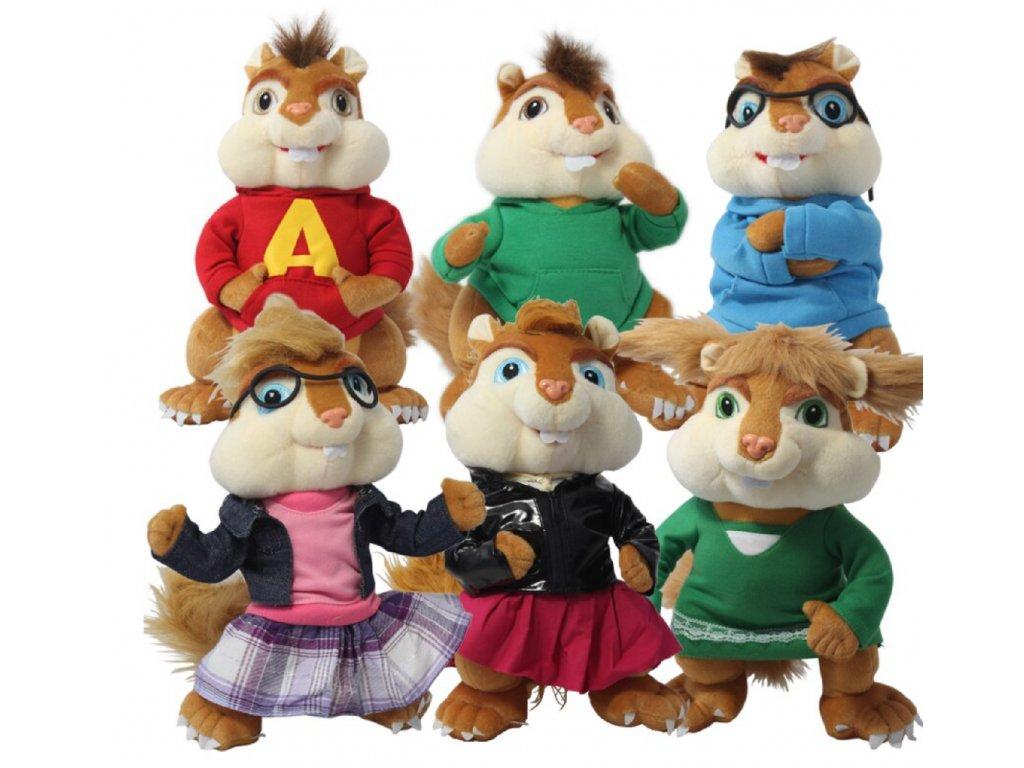 Plyšák Alvin a Chipmunkové - více variant