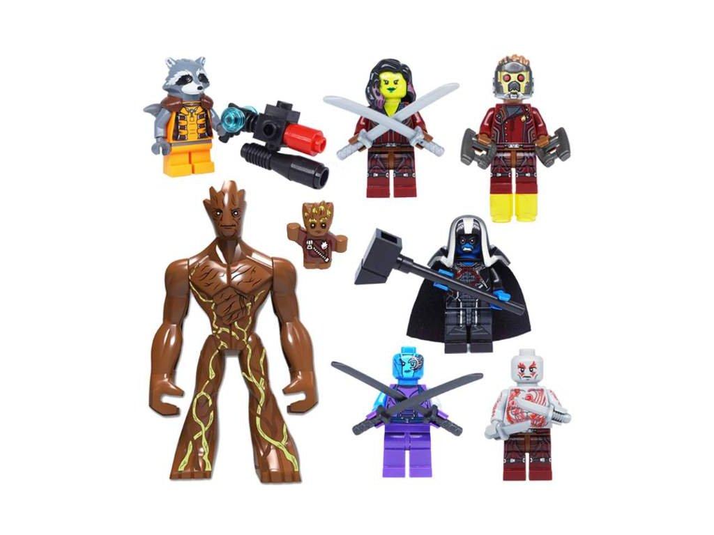Figurky Strážci Galaxie k Lego 8 ks