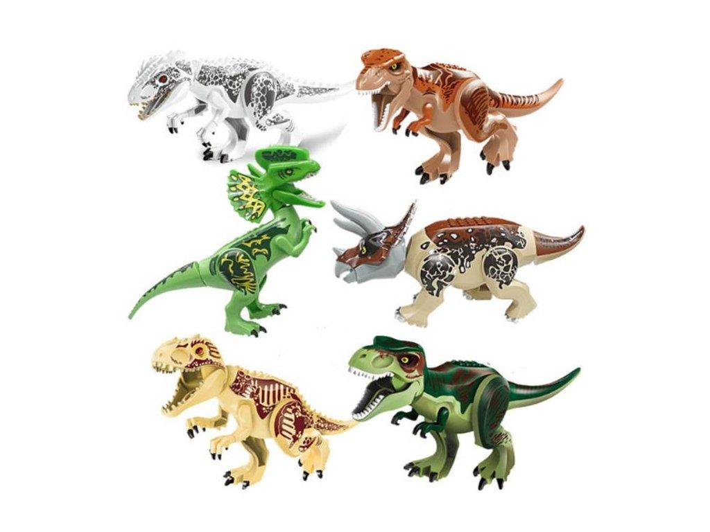 Jurský Park dinosauři k Lego 30 cm 6 ks