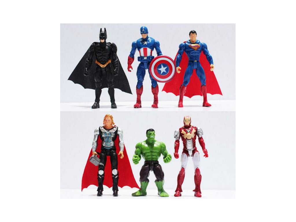 Figurky Marvel a DC Comics - Superhrdinové 6 ks