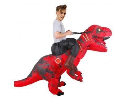 Nafukovací kostým dinosaura - červený