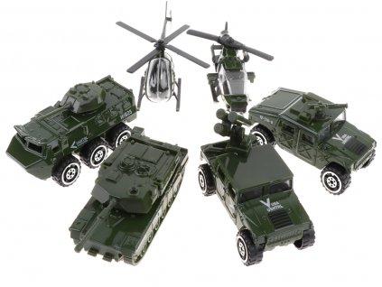 Sada vojenských autíček