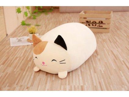 Plyšová kočka - dekorační polštářek